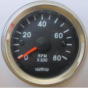 Tachometer 5.5 Inches Old Jaeger look